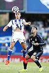 Real Sociedad's David Concha (l) and Real Madrid's Mateo Kovacic during La Liga match. August 21,2016. (ALTERPHOTOS/Acero)