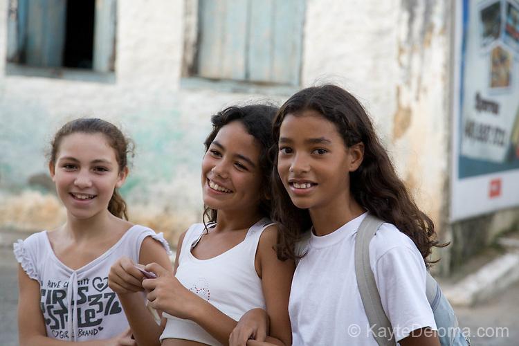 Children from Dom Jeime school congregate across the street at the Community Center in Ribeirao da Ilha, Santa Catarina, Brazil