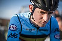 Toon Aerts (BEL) pre race focus. <br /> <br /> UEC CYCLO-CROSS EUROPEAN CHAMPIONSHIPS 2018<br /> 's-Hertogenbosch – The Netherlands<br /> Men Elite Race