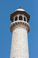Agra, India.  Taj Mahal.  Top of Minaret.