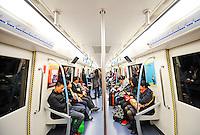 Chengdu underground Line 1 in Chengdu, China.<br /> 12 Mar 2011