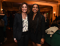 PASADENA, CA - JANUARY 17: (L-R) Executive Vice President, Global Scripted Content and Documentary Films at National Geographic Carolyn Bernstein and Genius: Aretha Executive Producer/Showrunner Suzan-Lori Parks attend the National Geographic 2020 TCA Winter Press Tour Party at the Langham Huntington on January 17, 2020 in Pasadena, California. (Photo by Frank Micelotta/National Geographic/PictureGroup)