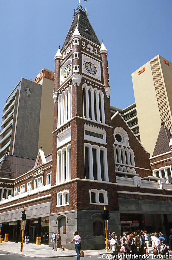 """Perth: Town Hall, 1857. Richard Roach, Jewell and James Manning--built under the """"convict establishment"""". Photo '82."""