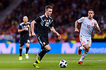 Giovani Lo Celso of Argentina (L) in action against Thiago Alcantara of Spain (R) during the International Friendly 2018 match between Spain and Argentina at Wanda Metropolitano Stadium on 27 March 2018 in Madrid, Spain. Photo by Diego Souto / Power Sport Images