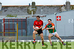 Paul O'Connor Kenmare and Tommy O'Sullivan Mid Kerry during their SFC quarter final in Fitzgerald Stadium on Sunday