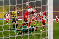 David Wheeler of Wycombe Wanderers sees his goal disallowed during the Sky Bet Championship behind closed doors match between Watford and Wycombe Wanderers at Vicarage Road, Watford, England on 3 March 2021. Photo by David Horn.
