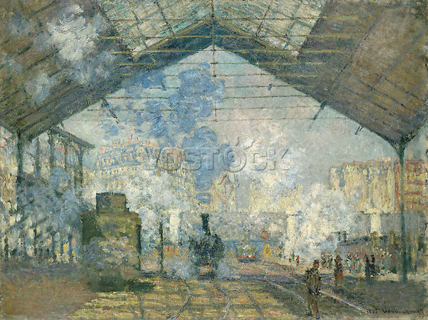 Claude Monet - Saint-Lazare Station (1877). Paris, musée d'Orsay.