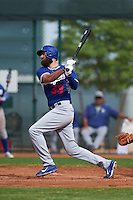 Los Angeles Dodgers Scott Van Slyke (33) during an instructional league game against the Cleveland Indians on October 15, 2015 at the Goodyear Ballpark Complex in Goodyear, Arizona.  (Mike Janes/Four Seam Images)