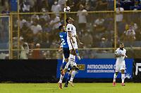 SAN SALVADOR, EL SALVADOR - SEPTEMBER 2: Tyler Adams #4 of the United States wins the header during a game between El Salvador and USMNT at Estadio Cuscatlán on September 2, 2021 in San Salvador, El Salvador.