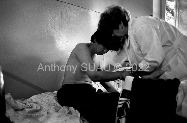 Bishkek, Krygystan.1996.An opium junk recieves treatment in a Kyrgyz clinic located in the capital. Clinic nurses claim the number of junkies in the center has increase slowly since the demise of the former Soviet Union.