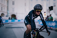 Georgia Williams (NZL/Mitchelton-Scott) in the finish zone<br /> <br /> WOMEN ELITE INDIVIDUAL TIME TRIAL<br /> Hall-Wattens to Innsbruck: 27.8 km<br /> <br /> UCI 2018 Road World Championships<br /> Innsbruck - Tirol / Austria