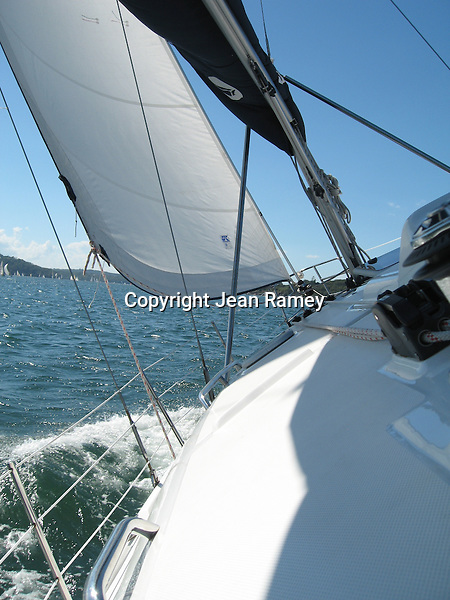 Sailing on beautiful Sydney Harbour