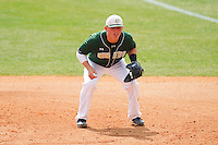 First baseman Justin Seager #10 of the Charlotte 49ers on defense against the Missouri Tigers at Robert and Mariam Hayes Stadium on February 27, 2011 in Charlotte, North Carolina.  Photo by Brian Westerholt / Four Seam Images