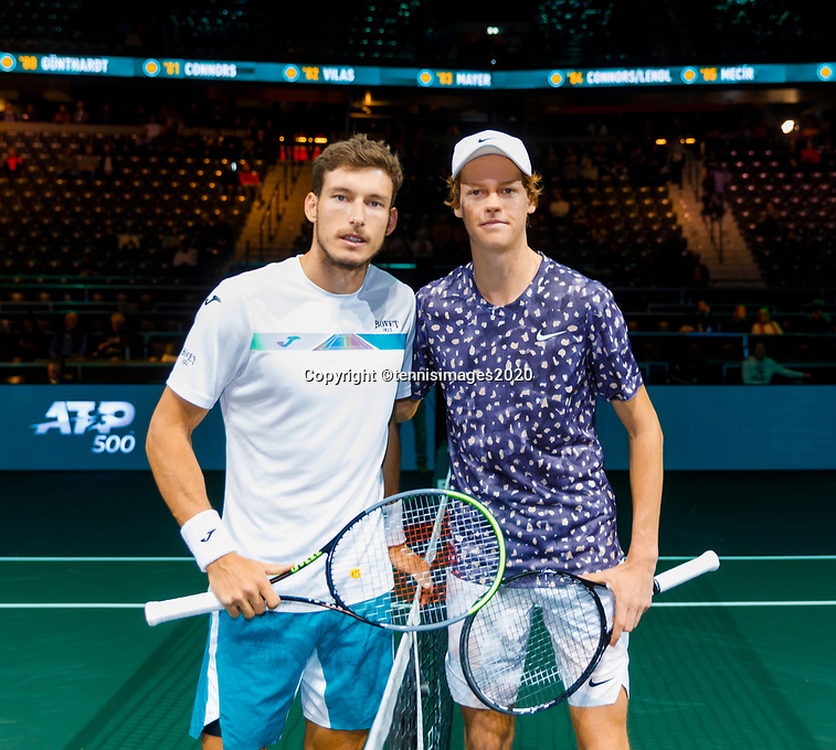 Rotterdam, The Netherlands, 14 Februari 2020, ABNAMRO World Tennis Tournament, Ahoy, Janikk Sinner (ITA), Pablo Carreno Busta (ESP).<br /> Photo: www.tennisimages.com