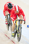 The team of China with Guo Shuang and.Lin Junhong compete in Women's Team Sprint - Qualifying match as part of the 2017 UCI Track Cycling World Championships on 12 April 2017, in Hong Kong Velodrome, Hong Kong, China. Photo by Victor Fraile / Power Sport Images