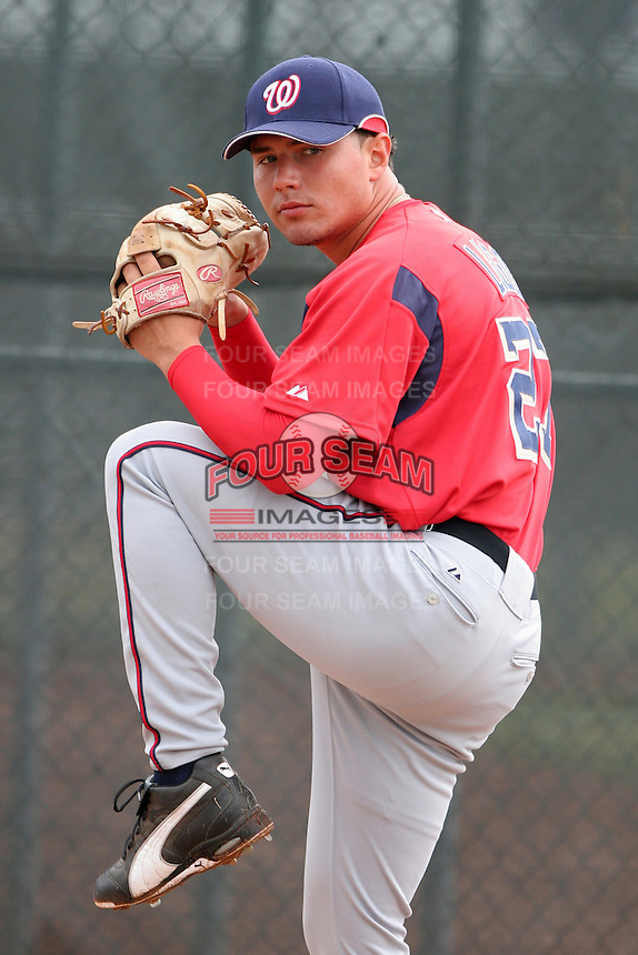 Washington Nationals minor leaguer Chris Lugo during Spring Training at the Carl Barger Training Complex on March 20, 2007 in Melbourne, Florida.  (Mike Janes/Four Seam Images)