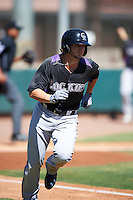 Colorado Rockies Forrest Wall (14) during an Instructional League game against SK Wyvern of Korea on October 5, 2016 at Salt River Fields at Talking Stick in Scottsdale, Arizona.  (Mike Janes/Four Seam Images)