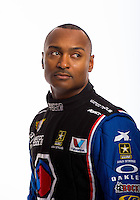 Jan 16, 2013; Palm Beach Gardens, FL, USA; NHRA top fuel driver Antron Brown poses for a portrait. Mandatory Credit: Mark J. Rebilas-
