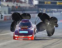Feb 11, 2017; Pomona, CA, USA; NHRA top alcohol funny car driver Steve Gasparrelli during the Winternationals at Auto Club Raceway at Pomona. Mandatory Credit: Mark J. Rebilas-USA TODAY Sports