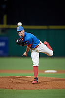 Clearwater Threshers relief pitcher Zach Warren (33) during a Florida State League game against the Lakeland Flying Tigers on May 14, 2019 at Spectrum Field in Clearwater, Florida.  Clearwater defeated Lakeland 6-3.  (Mike Janes/Four Seam Images)