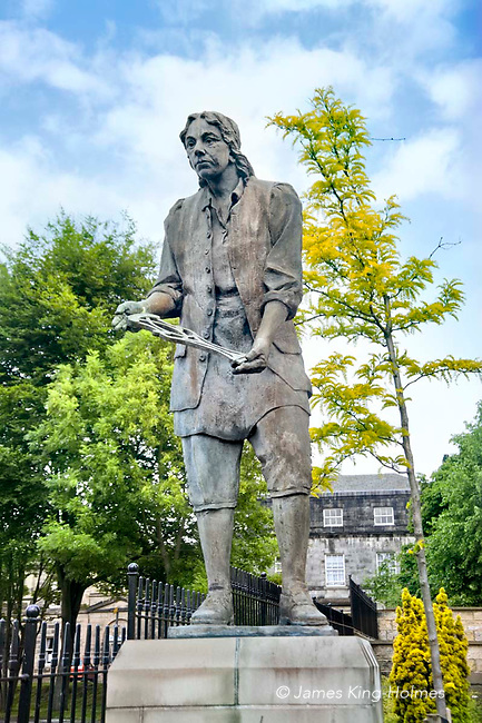Statue of Thomas Chippendale, cabinet maker & furniture designer in his birthplace Otley, Yorkshire, UK