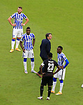 17.10.2020, OLympiastadion, Berlin, GER, DFL, 1.FBL, Hertha BSC VS. VfB Stuttgart, <br /> DFL  regulations prohibit any use of photographs as image sequences and/or quasi-video<br /> im Bild Cheftrainer Bruno Labbadia (Hertha BSC Berlin), Eduard Loewen (Hertha BSC Berlin #23), Jhon Cordoba (Hertha BSC Berlin #15), Dodi Lukebakio (Hertha BSC Berlin #11),<br /> Orel Mangala (VfB Stuttgart #23)<br /> <br />     <br /> Foto © nordphoto /  Engler