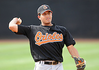 August 1, 2009: Infielder Omar Cassamayor (13) of the Bluefield Orioles, rookie Appalachian League affiliate of the Baltimore Orioles in a game at Howard Johnson Field in Johnson City, Tenn. Photo by: Tom Priddy/Four Seam Images