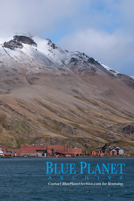 The abandoned Whaling Station at Grytviken. South Georgia, South Atlantic Ocean