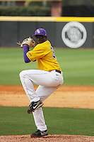 East Carolina University Pirates infielder Jharel Cotton #39 pitchingduring a game against the Stony Brook Seawolves at Clark-LeClair Stadium on March 4, 2012 in Greenville, NC.  East Carolina defeated Stony Brook 4-3. (Robert Gurganus/Four Seam Images)