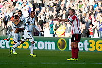 Saturday 19 October 2013 Pictured: Jonathan de Guzman celebrates his goal<br /> Re: Barclays Premier League Swansea City vSunderland at the Liberty Stadium, Swansea, Wales