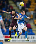 St Johnstone v Hearts…10.08.16..  McDiarmid Park…BetFred Cup<br />Jamie Walker and Paul Paton<br />Picture by Graeme Hart.<br />Copyright Perthshire Picture Agency<br />Tel: 01738 623350  Mobile: 07990 594431