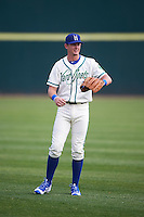 Hartford Yard Goats third baseman Ryan McMahon (13) during warmups before the first game of a doubleheader against the Trenton Thunder on June 1, 2016 at Sen. Thomas J. Dodd Memorial Stadium in Norwich, Connecticut.  Trenton defeated Hartford 4-2.  (Mike Janes/Four Seam Images)