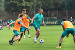 15.09.2020, Trainingsgelaende am wohninvest WESERSTADION - Platz 12, Bremen, GER, 1.FBL, Werder Bremen Training<br /> <br /> <br /> Christian Groß / Gross (Werder Bremen #36)<br /> Pattrick Erras (Werder Bremen Neuzugang 29<br /> Niclas Füllkrug / Fuellkrug (Werder Bremen #11)<br /> <br /> <br /> <br /> Foto © nordphoto / Kokenge
