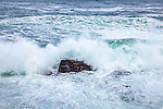 Storm waves near Thunder Hole in Acadia National Park, Maine, USA