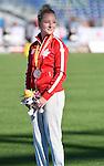 Leah Ainslie Robinson, Toronto 2015 - Para Athletics // Para-athlétisme.<br /> Leah Ainslie Robinson receives her bronze medal the Women's 200m T37 Final // Leah Ainslie Robinson reçoit sa médaille de bronze à la finale du 200 m T37 féminin. 12/08/2015.