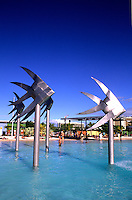 Locals in Exotic Swimming Pool at Lagoon Marina in Cairns Australia Queensland