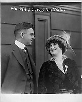 Mrs. Schuyler Britton, owner of the St. Louis Cardinals, Baseball team and her husband, 1913 Dec. 9.