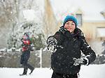 Matthew Mc Grath having fun in the snow at Woodstock View in Ennis. Photograph by John Kelly.