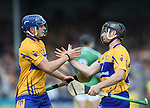 Michael O Neill comes on top replace Podge Collins of Clare  during their Munster championship game against Limerick in Ennis. Photograph by John Kelly.