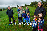 Danny Breen, a farmer from Garraun, Firies who are frustrated by an explosion in the feral goat population on Sliabh Mish mountain. Front l to r:  Danny, Michael and Chloe Breen. Back l to r: Cllr Michael O'Shea, Aodhan, Richie, Oisin, Fionn and Noreen Breen Murray.