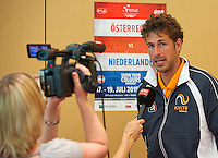 Austria, Kitzbuhel, Juli 16, 2015, Tennis, Davis Cup, Draw, Interview with Robin Haase (NED)<br /> Photo: Tennisimages/Henk Koster