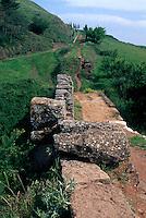 Reste einer Römerstraße, Cirauqui, Navarra, Spanien
