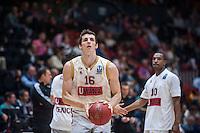 VALENCIA, SPAIN - NOVEMBER 3: Benjamin Ortner during EUROCUP match between Valencia Basket Club and CAI Zaragozaat Fonteta Stadium on November 3, 2015 in Valencia, Spain