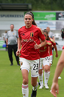 Silke Vanwynsberghe (23) of Belgium  pictured during the warm up before a friendly female soccer game between the national teams of Luxemburg and Belgium , called the Red Flames  in a preparation towards the qualification for the  FIFA Women's World Cup , on saturday 12 th of June 2021  in Wiltz , Luxemburg . PHOTO SPORTPIX BE   SPP   SEVIL OKTEM