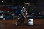 Bradi Good during the second round of barrel qualifiers at the WCRA Stampede at the E. Photo by Andy Watson