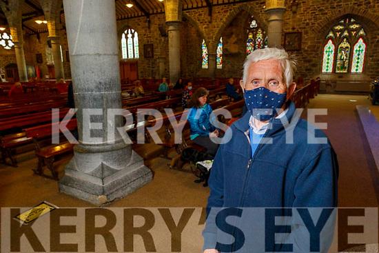 John McKiernan from Tralee attending Mass in St Johns Church on Monday morning as Churches reopen for mass