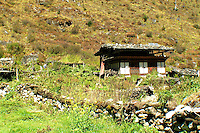 Farmhouse in the mountains of Bhutan