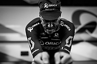Mathew Hayman (AUS/Orica-Scott) putting the hammer down during warm-up<br /> <br /> 104th Tour de France 2017<br /> Stage 1 (ITT) - Düsseldorf › Düsseldorf (14km)