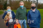 Enjoying a stroll in the Killarney National park on Saturday, l to r: Peggy and Dominic Rintal and Petra O'Brien taking Milly the dog