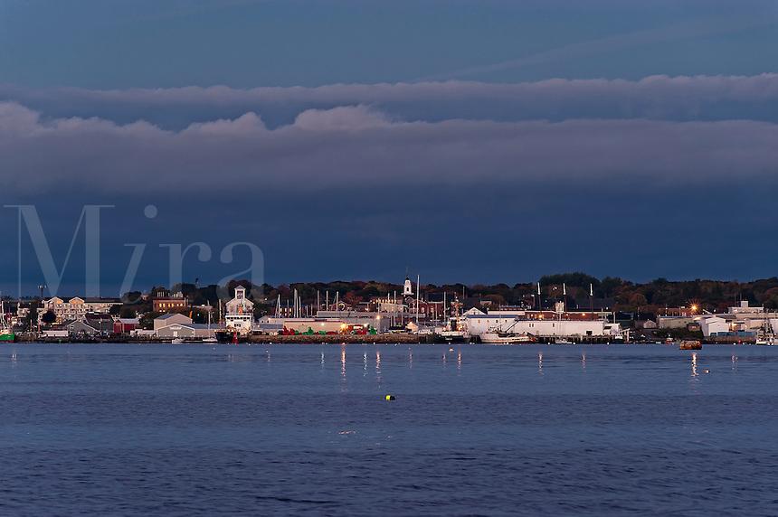 Rockland skyline, Maine, ME, USA